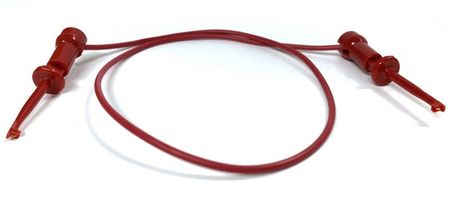 """E-Z Hook 204XM-12RED - XM micro-hook jumper 12"""" test lead, red"""