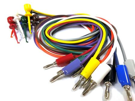 "E-Z Hook 601XR-18-S - XR mini-hook to stacking banana plug�"" test lead set of 10 assorted colors"