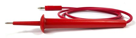 """E-Z Hook 658-48RED - Pin tip test probe to standard banana plug 48"""" test lead, red"""