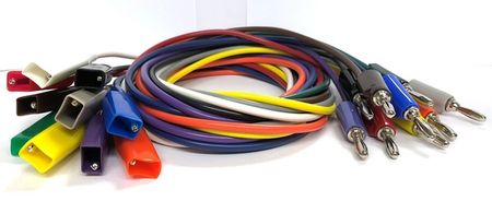 "E-Z Hook 681-36-S - Standard alligator clip to stacking banana plug 36"" test lead, set of 10 assorted colors"