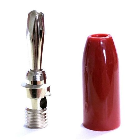 E-Z Hook 9202RED - Standard banana plug test connector, red handle