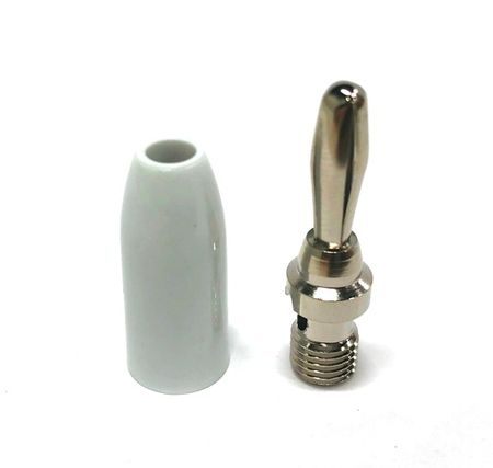 E-Z Hook 9202WTE - Standard banana plug test connector, white handle