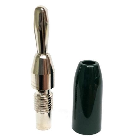E-Z Hook 9203GRN - Stackable standard banana plug test connector, green handle