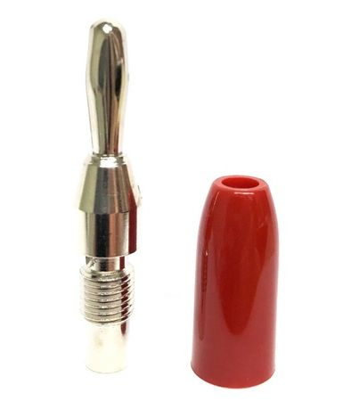 E-Z Hook 9203RED - Stackable standard banana plug test connector, red handle