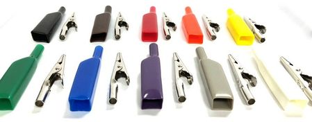 E-Z Hook 9274-S - Alligator clip with flexible PVC insulation boot, set of 10 assorted colors