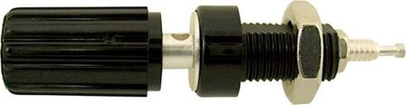 E-Z Hook 9280BLK - Banana plug binding post with turret terminal, color black
