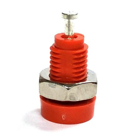 E-Z Hook 9283ORN - Miniature banana socket panel mount, orange