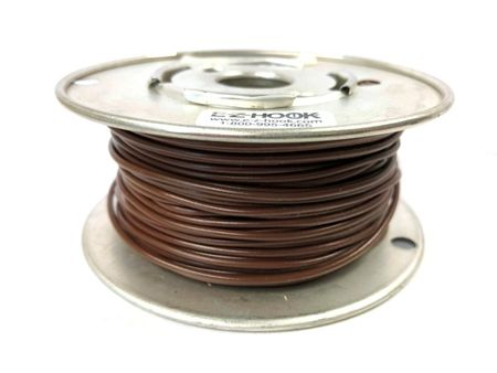 E-Z Hook 9504-100BRN - PVC insulated  100 foot wire spool, 22 AWG, brown