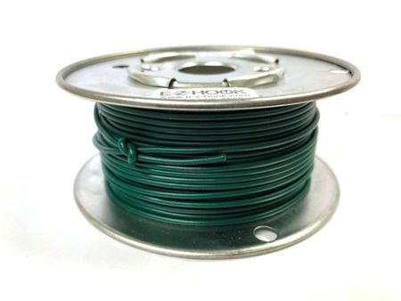 E-Z Hook 9504-100GRN - PVC insulated  100 foot wire spool, 22 AWG, green