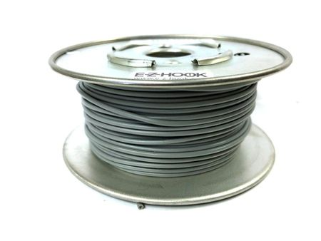 E-Z Hook 9504-100GRY - PVC insulated  100 foot wire spool, 22 AWG, gray