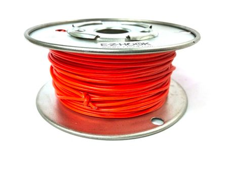 E-Z Hook 9504-100ORN - PVC insulated  100 foot wire spool, 22 AWG, orange