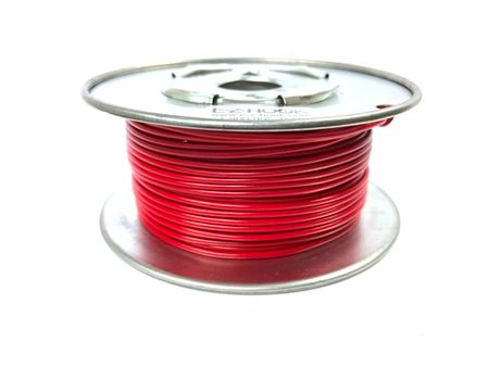 E-Z Hook 9504-100RED - PVC insulated  100 foot wire spool, 22 AWG, red