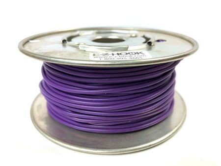 E-Z Hook 9504-100VLT - PVC insulated  100 foot wire spool, 22 AWG, violet