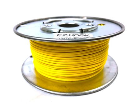 E-Z Hook 9504-100YEL - PVC insulated  100 foot wire spool, 22 AWG, yellow