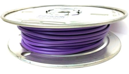 E-Z Hook 9506-100VLT - PVC insulated  100 foot wire spool, 18 AWG, violet
