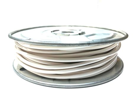 E-Z Hook 9506-100WTE - PVC insulated  100 foot wire spool, 18 AWG, white