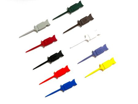 E-Z Hook XKM-S - XKM Micro-hook, double hook with two 0.025 sq pins, set of 10 assorted colors