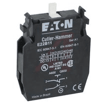 Eaton E22B11 - e22 series contact block 1 amp 1no 1nc