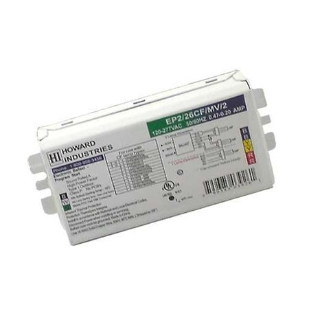 Howard Lighting EP2/26CF/MV/K2 2 Lamp Electronic Compact Fluorescent Ballast
