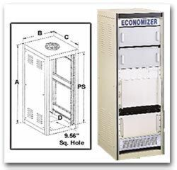 Bud Industries ER-16511-BT - Large Cabinet Racks-ER series-Economizer-L25 X W22 X D26