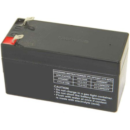 MK Battery ES1.2-12 - 12 Volts, 1.2 Amp Hours (20 Hours) Small Sealed Battery