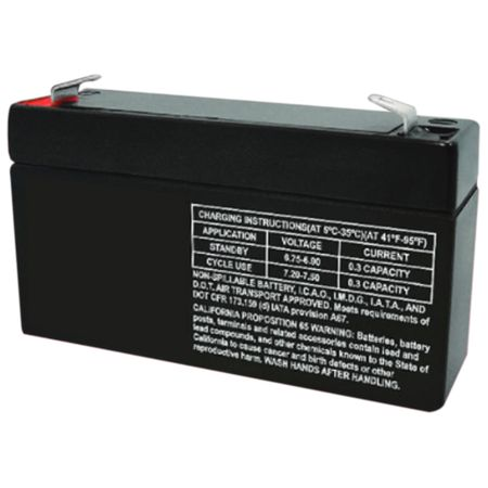 MK Battery ES1.2-6 - 6 Volts, 1.2 Amp Hours (20 Hours) Small Sealed Battery