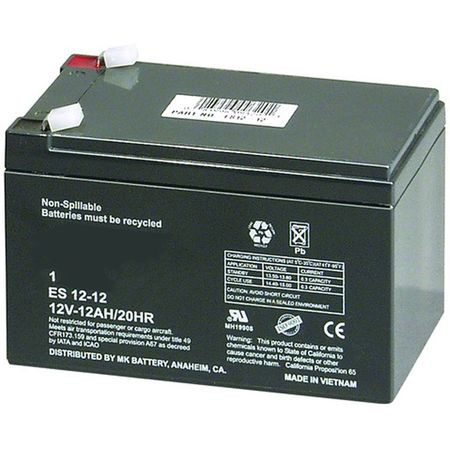 MK Battery ES12-12 - 12 Volts, 12 Amp Hours (20 Hours) Small Sealed Battery