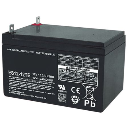 MK Battery ES12-12 TE - 12 Volts 12 Amp Hours/20 Hours