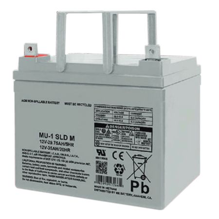 MK Battery ES33-12 - 12 Volts, 35 Amp Hours (20 Hours) Small Sealed Battery