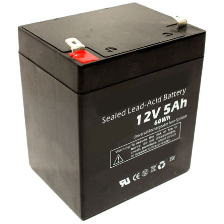 MK Battery ES5-12 - 12 Volts, 5 Amp Hours (20 Hours) Small Sealed Battery