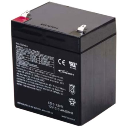 MK Battery ES5-12FR - 12 Volts, 5 Amp Hours (20 Hours) Small Sealed Battery