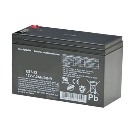 MK Battery ES7-12 - 12 Volts, 7.2 Amp Hours (20 Hours) Small Sealed Battery