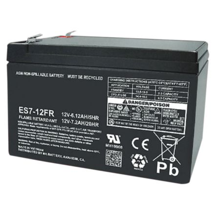 MK Battery ES7-12FR - 12 Volts, 7.2 Amp Hours (20 Hours) Small Sealed Battery