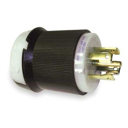 Hubbell HBL2811 - AC - Connector, L21-30, inline, male, Hubbell
