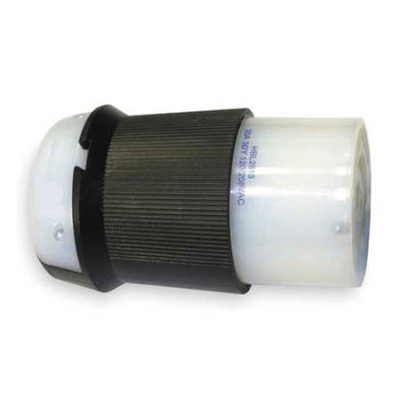 Hubbell HBL2813 - AC - Connector, L21-30, inline, female, Hubbell