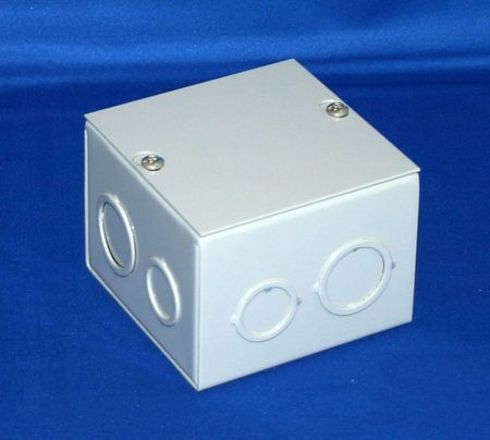 Bud Industries JB-3960 - Junction Box-JB series-NEMA 1 Sheet Metal Junction Box With Lift-off Screw Cover-L10 X W10 X D4