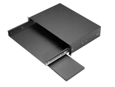 "Bud Industries KS-1785-BT - 19 inch Rack Shelves-KS series-Accessories 19"" Sliding Keyboard Mouse Shelf-L4 X W19 X D13"