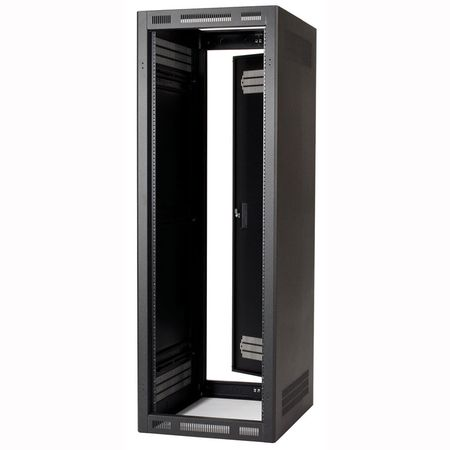Lowell LER-4027 Rack-Enclosed-40U 27in Deep 1pr Adj Rails Rear Door Black