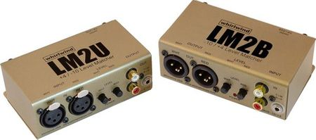 Whirlwind LM2B - Converter - 2 channel, active, -10dB RCA / mini TRS to +4dB XLRM, with gain control