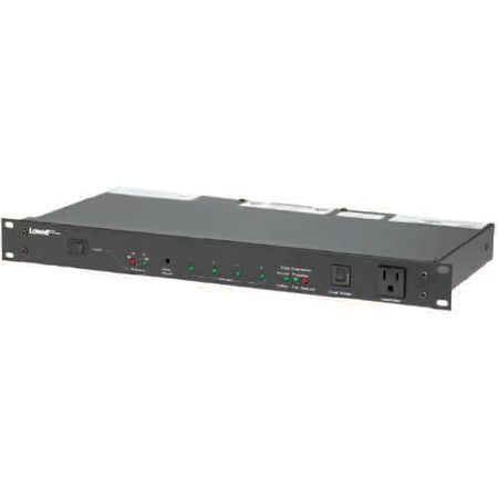 Lowell ACSPR-SEQ4-1509 Power Panel-15A 6-Switched 3-Unswitched Outlets 1U Seq/Surge Supp