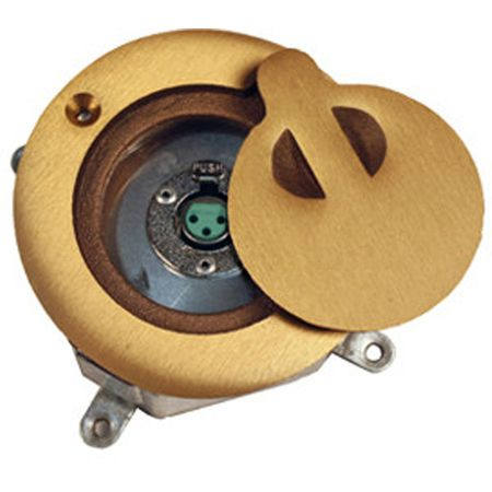 Lowell MO1-NC3FD Floor Box-Brass Includes One Mounted NC3F Connector