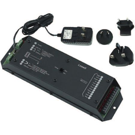 Lowell SEQ-8 Power Sequencer-8 Channel Surface Mount Power Supply with 4 plug adaptors