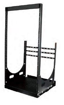 Lowell LPOR4-1019 Lowell Pull-out Rack w 4-slides 10U 19in Deep Black