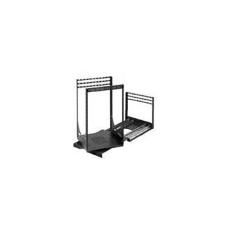 Lowell LPTR4-1419 Rack-Pull and Turn System-14U 4-Slides 19in Deep Black