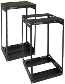 Lowell LVR22-1421 Rack-Variable Depth-22U Expands from 14in - 21in Deep Black