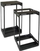 Lowell LVR8-1421 Rack-Variable Depth-8U Expands from 14in - 21in Deep Black