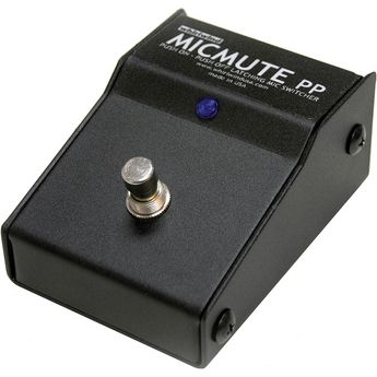 Whirlwind MICMUTE-PP - Switcher - Microphone / Line-Level, XLR I/O, latching on/off, foot pedal