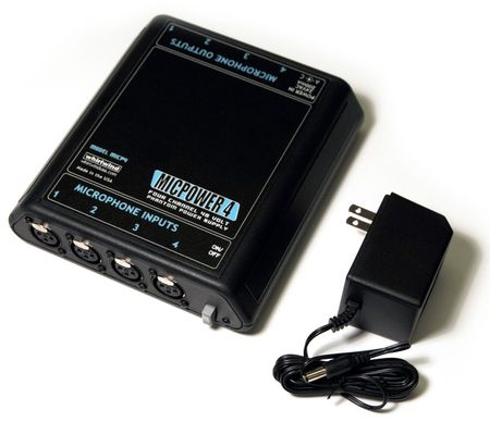 Whirlwind MICP4 - Power Supply - 48V phantom, 4-channel, AC powered, w/ AC adapter