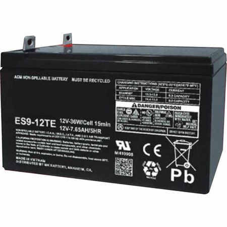 MK Battery ES9-12TE - 12 Volts, 9 Amp Hours (20 Hours) Small Sealed Battery