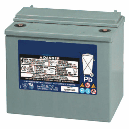 MK UPS Battery U1HR1500 - 12 Volts, 29.6 Amp Hour, 119 Watts/Cell 15 Minute Rate